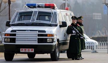 """揭秘""""两会""""期间安保车 超强阵容/力保北京治安秩序"""