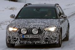 新款奥迪A6雪地路试 大灯和尾灯有变化