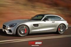 奔驰AMG GT猎装车型效果图 造型动感