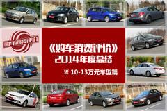 购车消费评价年度总结:10-13万车型