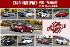 购车消费评价年度总结:20-25万车型