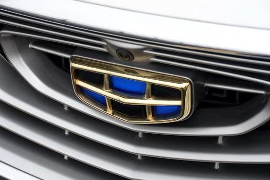 """吉利车型最新的家族式设计,包括""""涟漪式""""格栅和中国传统回纹图案等."""