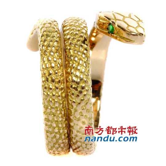 卡地亚蛇形戒指.