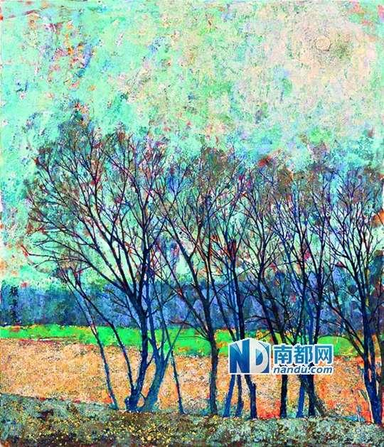 广州岩彩画画家展现古老绘画艺术