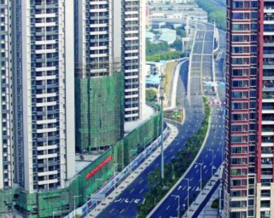 南北高架开通在即 华山一条道成历史