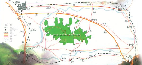 济南柳埠风景区地图