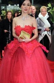 霍思燕红裙妖艳