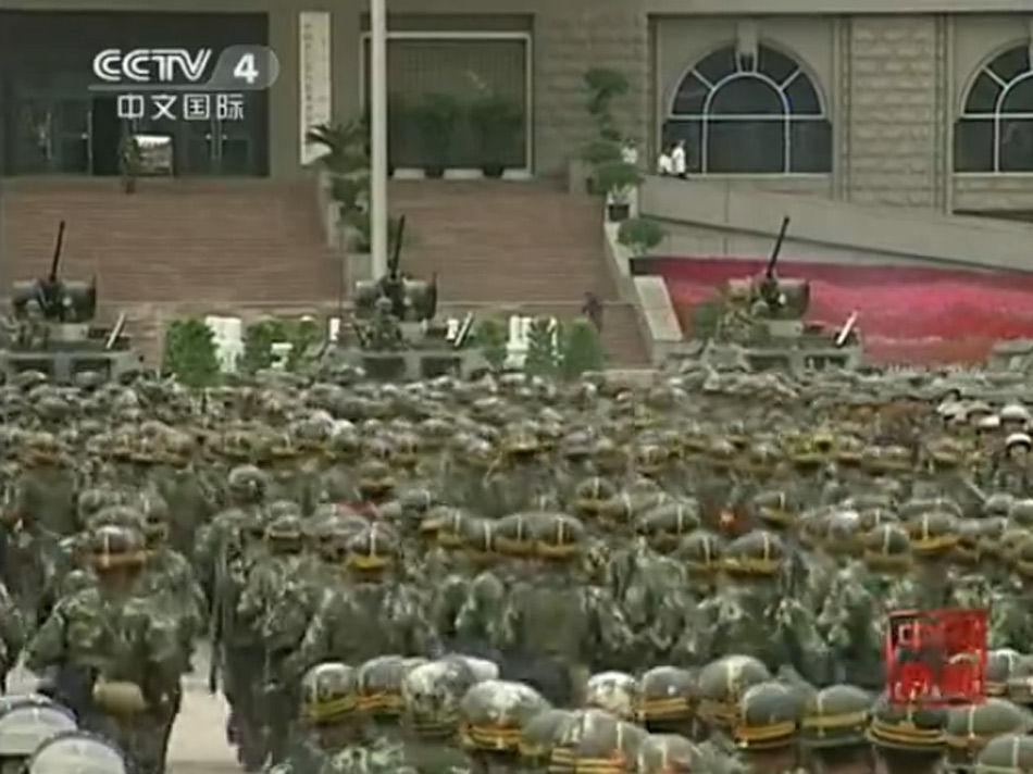 新疆武警部队29日誓师大会图片
