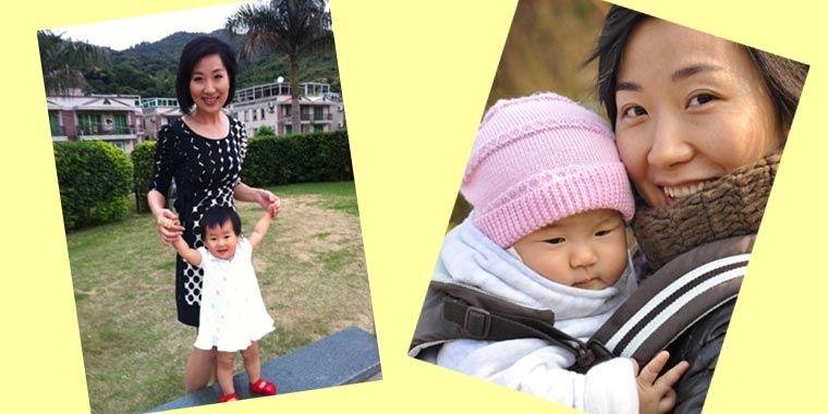 卢琛与女儿小果果