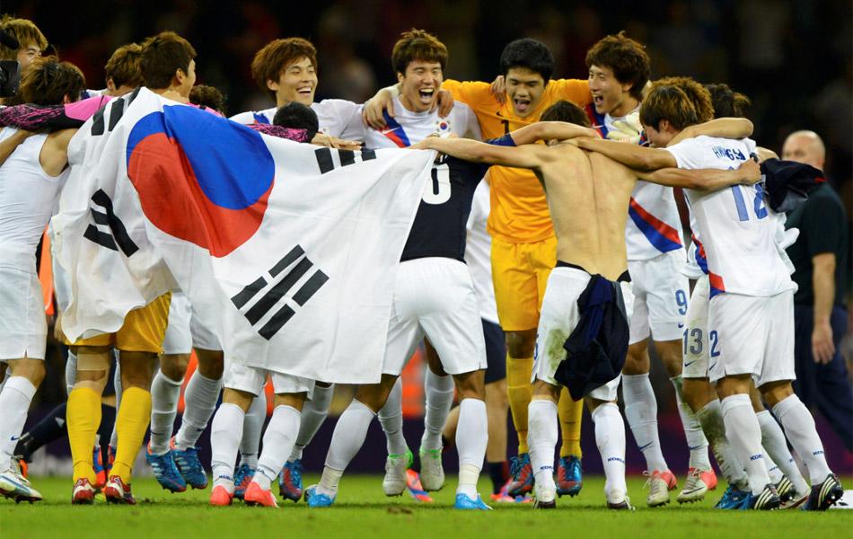 2012年8月11日,2012年伦敦奥运会男足铜牌战,日本0-2韩国。