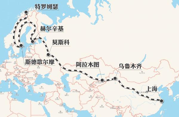 芬兰地图中文版高清晰