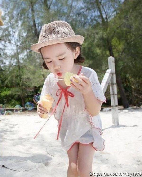 6岁韩国小萝莉萌照爆红网络折射啥 图图片
