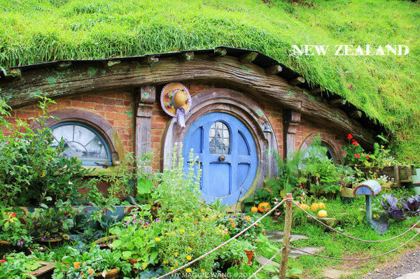 这里是花匠霍比特人的房子,所以他的屋前最多植物.