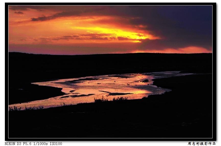 分享按钮 天上北斗星 人间七星湖之 日落日出高清图片