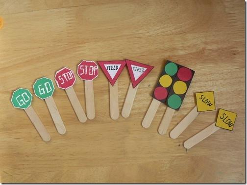 幼兒園交通標志手工 幼兒園自制指示牌
