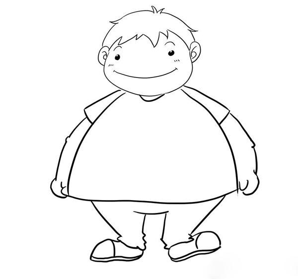 请让胖子先排队图片