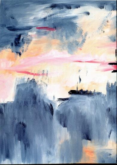 《眺》(局部)   油画·麻布  80cm×100cm   2011年