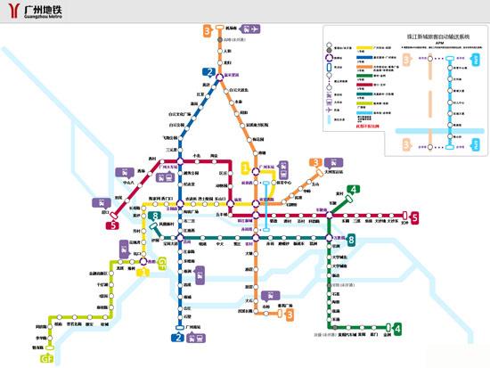 广州地铁线路图点击查看大图-2013年广州国际车展观展指南图片
