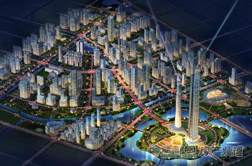 将于郑州高新区打造新都心·湖心岛畔·320万㎡城系生活
