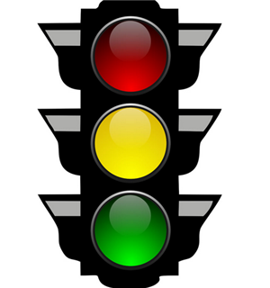 """""""红绿黄""""交通灯带着满满的爱"""
