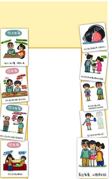 大学生手绘漫画讲述父母深爱 戳中网友泪点(图)
