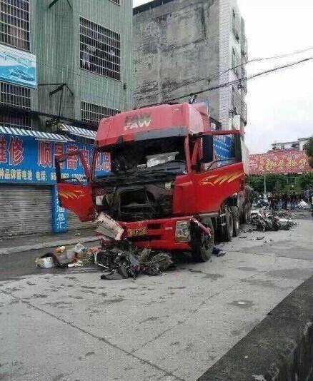 广东连州发生一起车祸致多名学生死伤 图图片