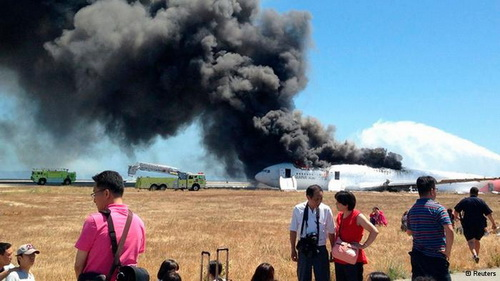 韩亚航空公司在旧金山的失事飞机