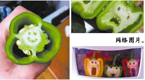 米娜:彩椒君的切面好有治愈效果,果断是蔬果界的表情帝.图片