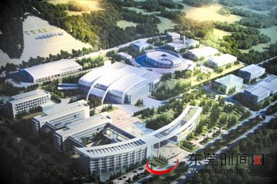 位于大朗镇的中国散裂中子源项目效果图 资料图