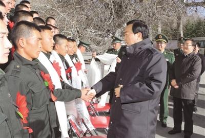 藏人民解放军和武警部队退伍士兵图片
