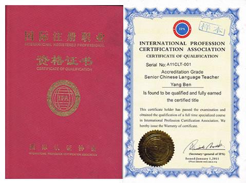 ipa对外汉语教师资格证成对外汉语行业从业标准