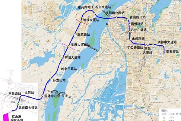 南昌地铁2号线岭北三路站开工 为铺轨基地图片