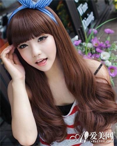 清新自然齐刘海发型图片
