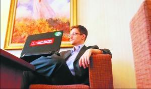 斯诺登摄于莫斯科的近照。按照记者描述,斯诺登显得很轻松且有活力。