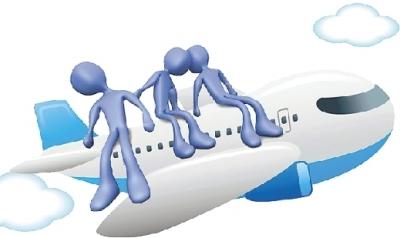 当飞机起飞或降落时,有人可能会觉得耳朵像塞了棉花一样,听不见飞机上