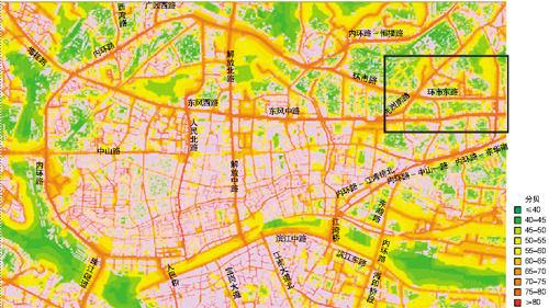 中大绘制广州噪声地图 广园路,内环路比较吵