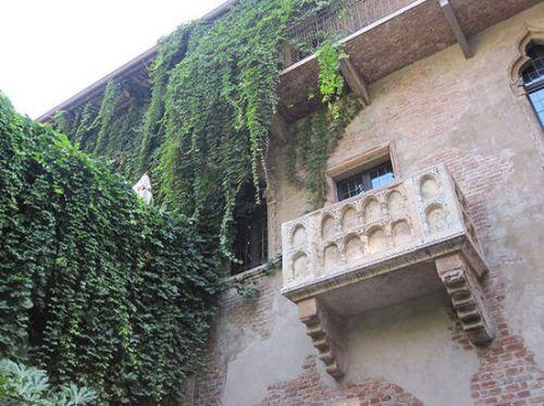 意大利维罗纳 守望朱丽叶的阳台