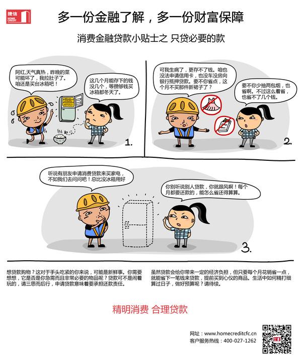 捷信中国消费金融知识漫画宣传
