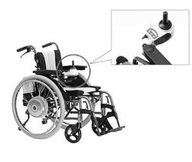 日本雅马哈生产的智能电动轮椅,手柄控制非常便捷.