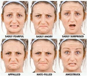人脸至少有21种表情图片