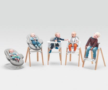 这款多功能婴儿餐椅却可以跟着孩子一同长大,适应不同年龄阶段小孩的