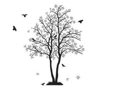 茂盛的树简笔画