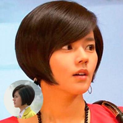 韩佳人很少减短发这一款短发是相对大家较为熟悉的但是小...