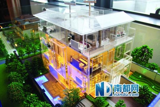 万科柏悦湾美式别墅模型图. 资料图片
