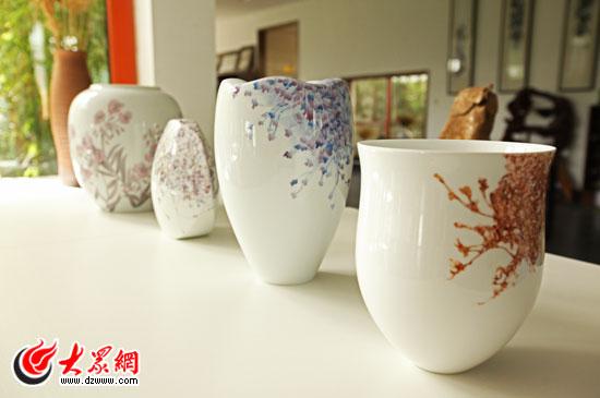 可爱陶艺杯子作品