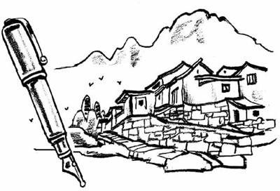 湖南省的简笔画