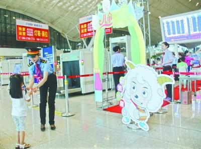 高铁站卡通门迎儿童旅客