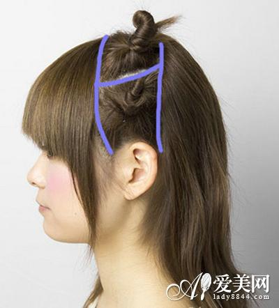 简单diy发型步骤