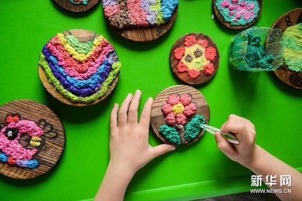 纸浆作画 环保时尚 组图|幼儿园|孩子_凤凰文化