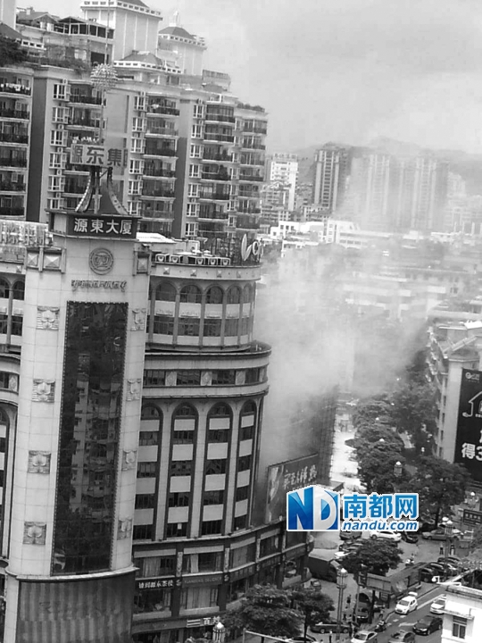 源东大厦冷却塔起火|着火|火灾_凤凰资讯